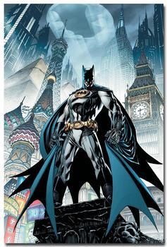 плакат Гобелен шелковый Бэтмен комиксы вариант 2 в ассортименте