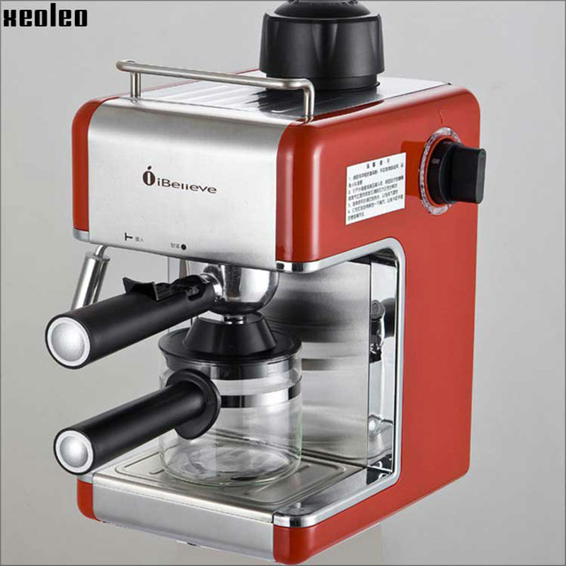 Xeoleo Coffee machine 5 Bar Espresso Coffee maker 4 cups Automatic Italy Espresso Coffee 240ml Espresso machine 800W/220V/5HZ
