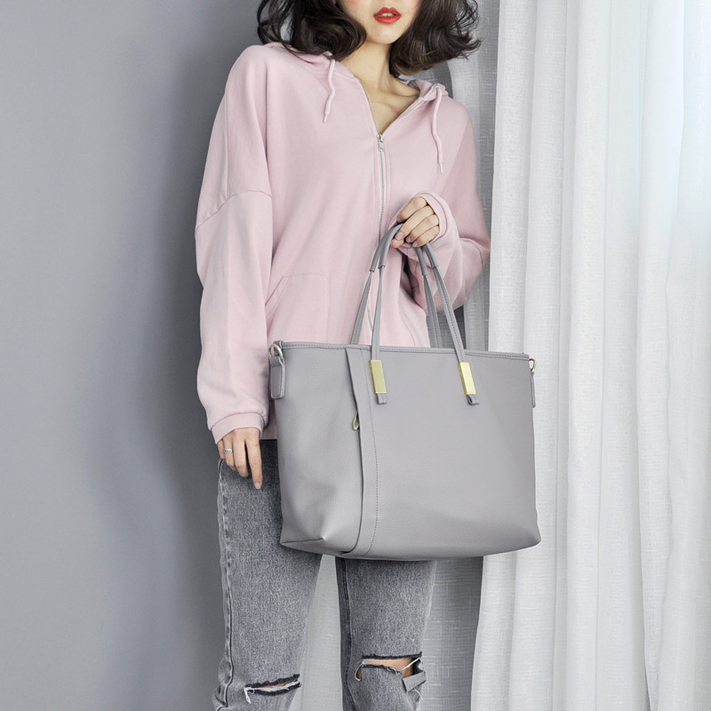 ФОТО Fashion Shoulder Bags For Women New Casual Totes Pu Handbags Designer Solid Soft Office Lady Shopping Bag 2017