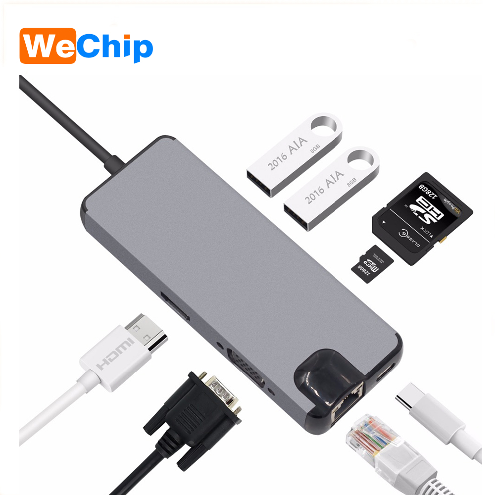 5 Type USB Type C HUB to HDMI 4k USB-C Adapter with DMIH SD/Micro SD Card Reader USB 3.0 ports Power Port Combo for MacBook Pro doitop usb c hub multiport type c hub adapter converter with 2 usb 3 0 ports type c charging port sd tf card reader for macbook