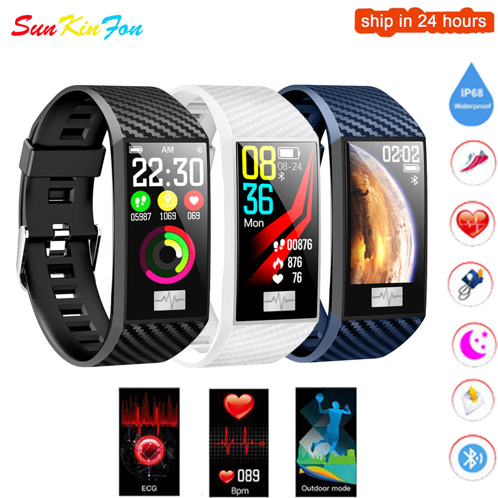 <font><b>DT58</b></font> <font><b>Smart</b></font> Bracelet with Heart Rate Sleep Monitor Blood Pressure <font><b>Watch</b></font> Sports <font><b>Smart</b></font> Wristband 1.14 inch Multi-sports Mode Band image