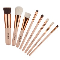 10pcs Full Set Women Makeup Brush Kit Superior Professional Soft Cosmetic Brushes Multifunction Toiletry Kit For