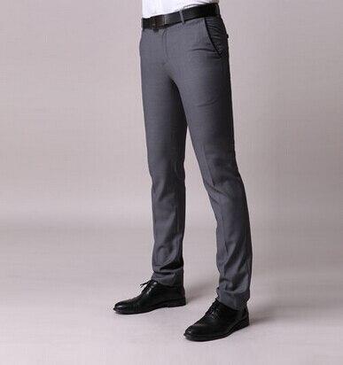 c777148f117 Mens Formal Casual Slim Fit Long Pants Trousers Straight Pencil Skinny Pants