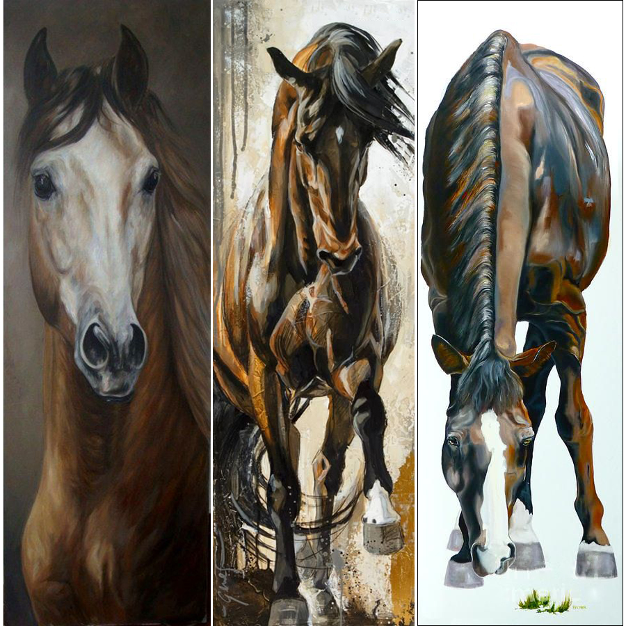 5D Resin Diamond Painting Diamond Embroidery Full Square Mosaic Craft Cross Stitch DIY Needlework Mosaic Oil Paintings Of Horses