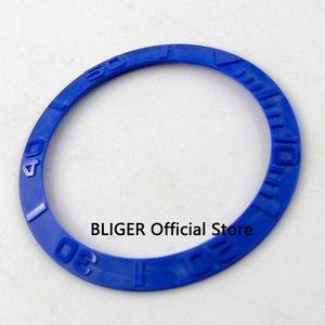 Image 5 - 38mm weiß blau schwarz grün keramik einsätze für 40mm SUB uhr fall automatische bewegung herren uhr lünette BB1