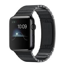2016 Черный & Silver Высокое Качество Нержавеющей Стали 316L группа Для apple watch band link браслет Металлический ремешок для iWatch 42 мм 38 мм