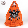 Balaclava Gorro Ulgen Original Knitting Hat For Fashion Winter Handmade Spider Crochet Beautiful Warm Beaded Beanie Hats[ Hul2 ]