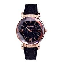 f736e9805c6 2019 Nova Moda Marca Gogoey Subiu de Couro De Ouro Relógios Mulheres  senhoras vestido casual relógio