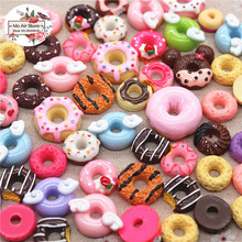 20pcs mix design dessert donut Resin Flat back Cabochon Art Supply Decoration Charm Craft