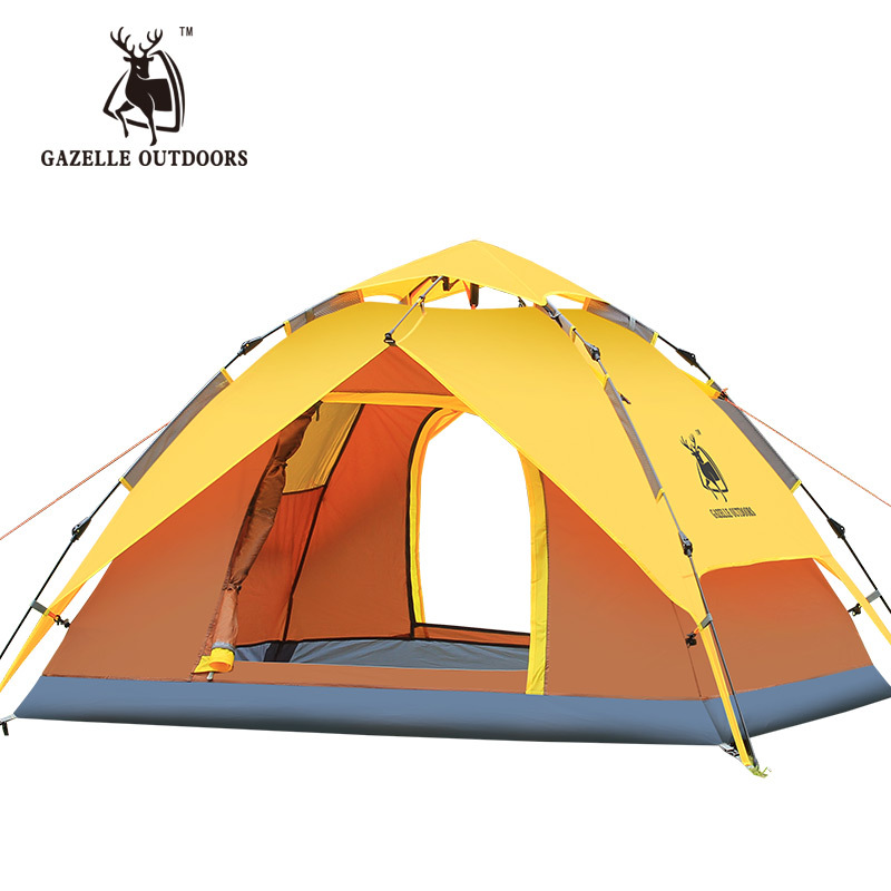 Automatic Camping Tent 3-4 person Waterproof Outdoor Pop Up Tents For Familly Tourist Travel  Hiking Fishing Large Beach Tent kingcamp large 3 4 person tent tourist tent camping family tent for outdoor recreation automatic ultralight