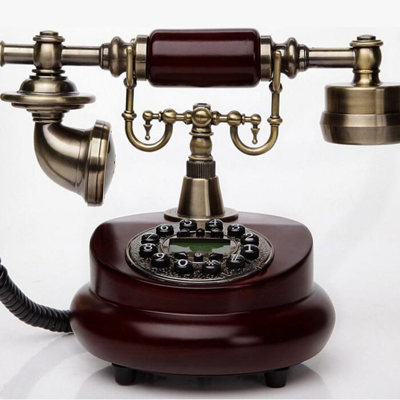 лучшая цена Wood Phone Antique Landline Telephone Vintage Phone Home Phones Fitted Landline Telephones Telefone With Call ID For Home Office