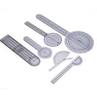 1 Set 6pcs Spinal Finger Goniometer Protractors Useful Multi-Ruler Angle Medical Spinal Ruler 180/360 Degree Measuring Tool