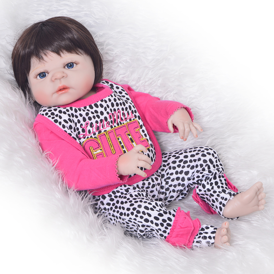 Rare 23 57 cm Boneca Reborn Baby Girl Full Silicone Body Reborn Dolls Realistice Kids Playmate Baby Toys Girl  Christmas GiftsRare 23 57 cm Boneca Reborn Baby Girl Full Silicone Body Reborn Dolls Realistice Kids Playmate Baby Toys Girl  Christmas Gifts