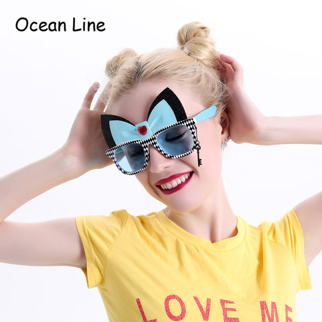 Alice In Wonderland Cheshire Cat Costume Glasses Cosplay Party Favors Fancy Dress Photo Booth Props Party Supplies Decoration  sc 1 st  Aliexpress & Online Shop Alice In Wonderland Cheshire Cat Costume Glasses Cosplay ...