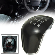 New Arrival 1pc Black ABS Plastic 5 Speed Gear Shift Knob Insert Cap Cover For Ford Fiesta Focus