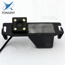 Highest night vision 4 LED color CCD Car Reverse Rear View backup Camera parking rearview For HYUNDAI I30 solaris& for KIA SOUL