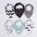 20 estilos 4 unids/lote baberos burp cloth impresión Flecha wave triángulo baberos de bebé pañuelo de algodón accesorios