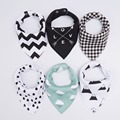 20 styles 4pcs/lot bibs burp cloth print Arrow wave triangle baby bibs cotton bandana accessories