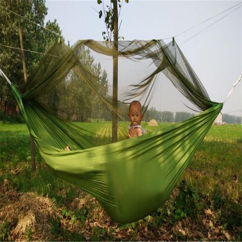 10 Pieces Outdoor Travel Portable Double Hammock With Mosquito Net For Outdoor Camping Traveling Es1542 Sports & Entertainment Camping & Hiking