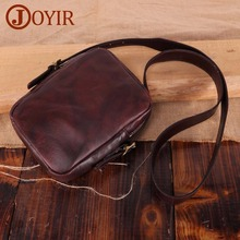 JOYIR Genuine Leather Men Messenger Bag Male Small Flap Man Vintage Crossbody Shoulder Bags Mens Travel Handbag Bolsa Masculina