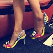 Mode Perle Ferse Frauen Sommer Sandalen Nette Mädchen Sprechen High Heels Frauen Schuhe Hochzeitskleid Schöne Gladiator Valentine Schuh