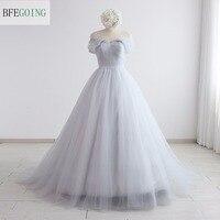 טול מתוקה אונליין שמלת חתונת קפלת רכבת ללא שרוולים כבוי כתף נדל תמונות/תמונות