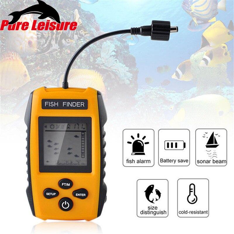 PureLeisure 2019 Smart Fish Finder Fish Alarm Underwater Mobile Fishing Finder GPS with Sonar Sensor Fishing