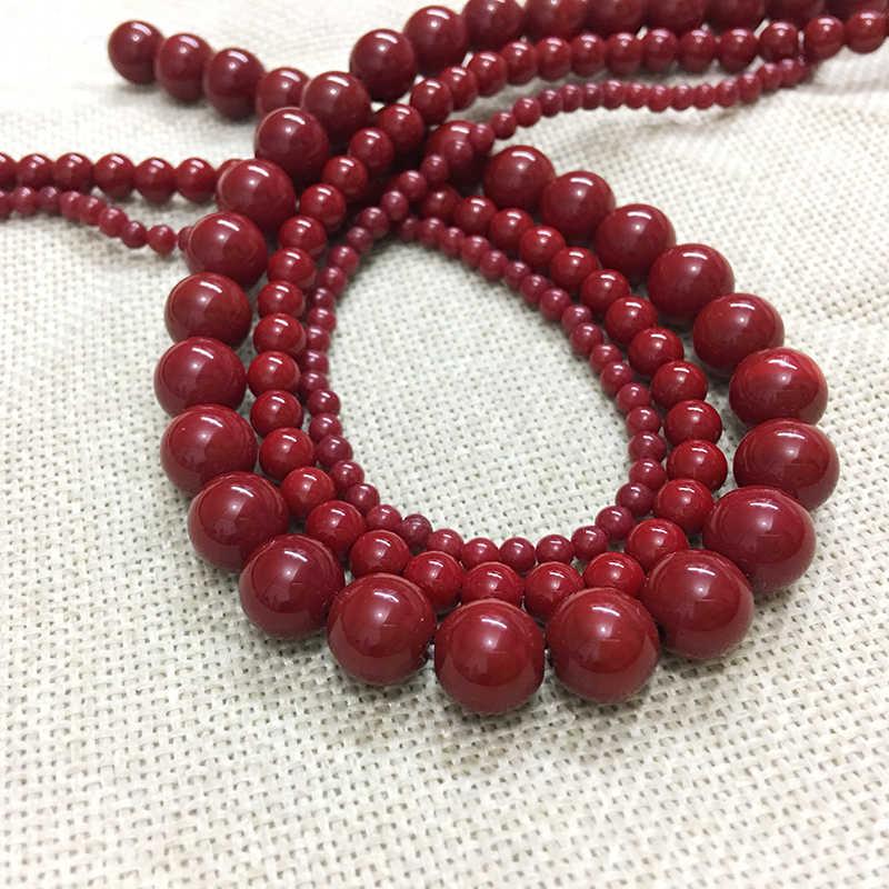 STENYA màu đỏ Phụ Kiện tự làm đá tự nhiên trang sức phát hiện spacer mịn loose hạt vòng cổ bông tai vòng đeo tay labradorit