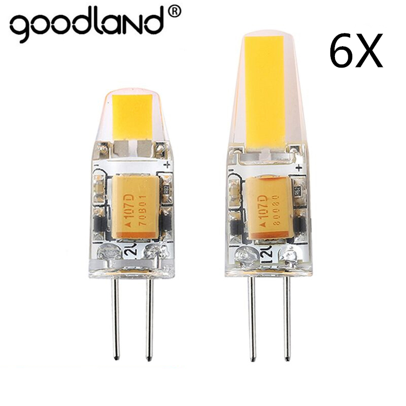 NEW Arrival 12V AC/DC COB G4 LED Bulb 3W 6W COB LED G4 Lamp Light for Crystal Chandelier G4 LED Lights Lamps Dimmable 6pcs/lot