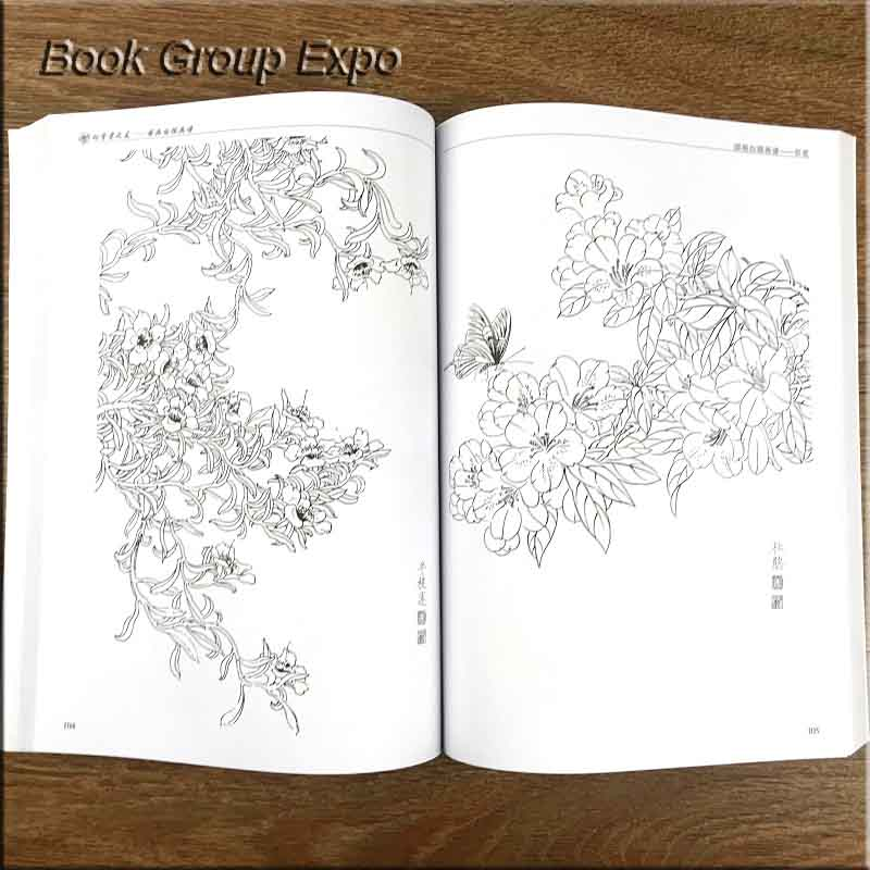 Image 2 - Chinese painting line drawing book Color pencil Flower Birds and insect coloring book for adults children-in Books from Office & School Supplies