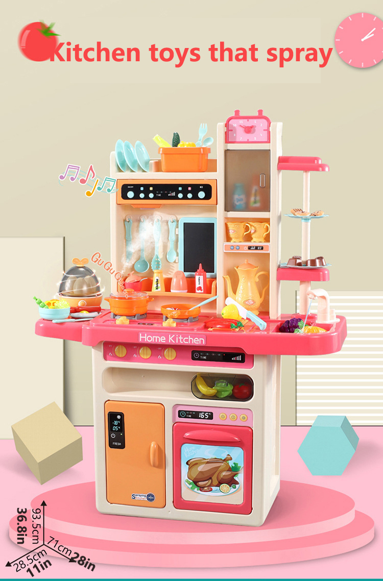 Infant Shining Kitchen Toys Pretend Play 65pcs Set Cooking Toys Tableware Sets Baby Kitchen Cooking Simulation Kitchen Toys Aliexpress