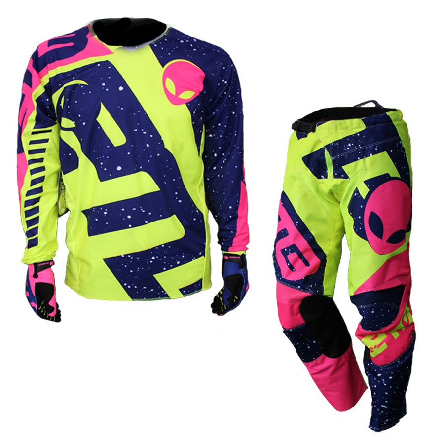 ETBIKE enfants Motocross MX costumes Moto pantalon et Jersey Moto course costume Dirt Bike hors route vêtements Moto costumes