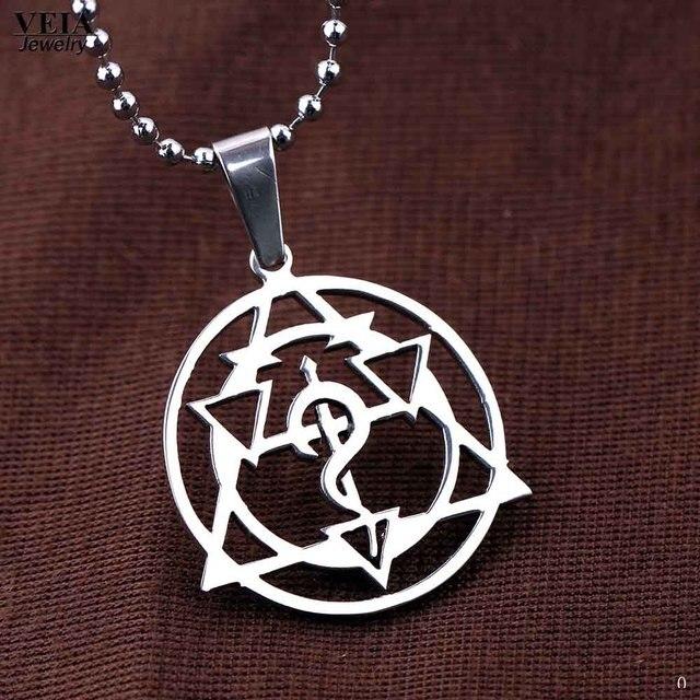 Anime Fullmetal Alchemist Symbol Choker Pendants Necklaces Edward