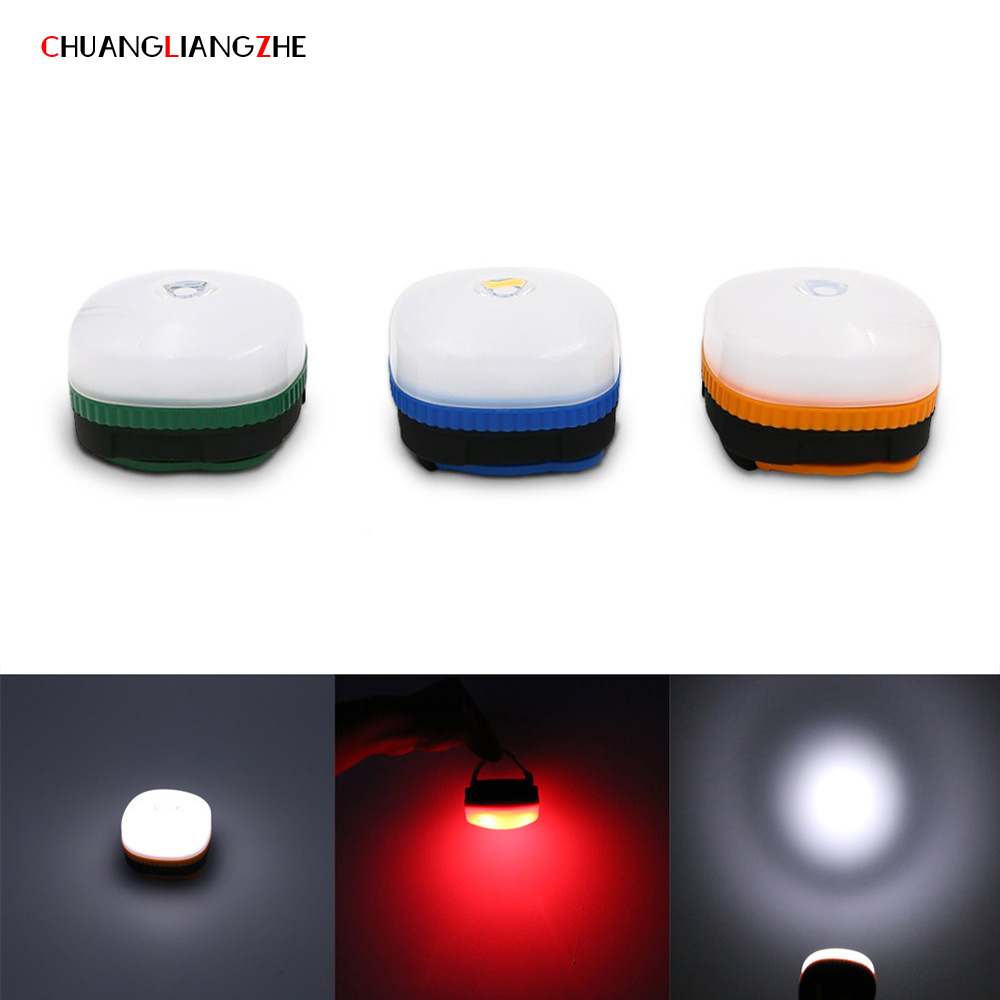 CHUANGLIANGZHE Portable lanterns Mini LED camping lanterns Tent lights flashlights Waterproof outdoor lights with hook magnets