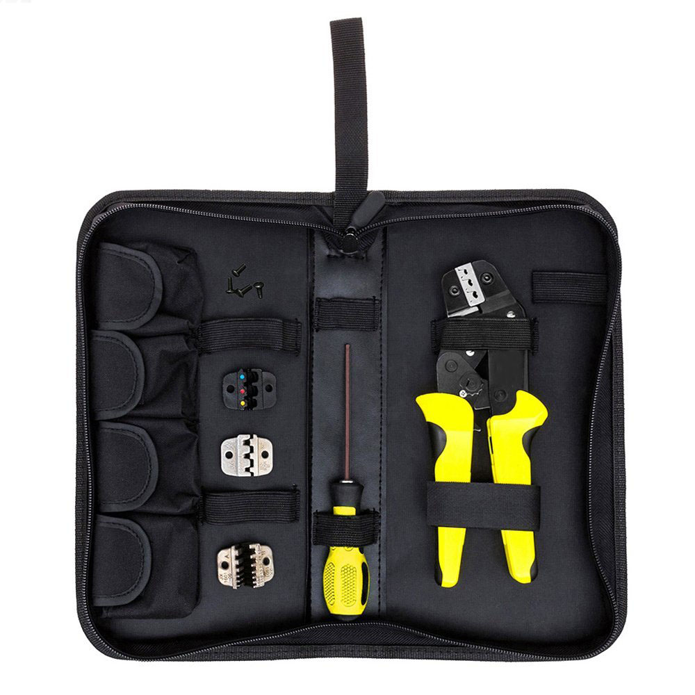 4 In 1 Wire Crimper tool Wire Crimper Engineering Ratchet Crimping Plier Ferrule Crimping Multi Tool Cord End Terminals xkai 14pcs 6 19mm ratchet spanner combination wrench a set of keys ratchet skate tool ratchet handle chrome vanadium