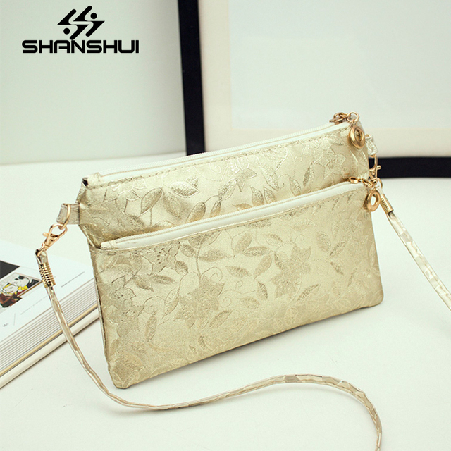 Shanshui Factory Direct 2017 China Fashion Embroidery Shoulder Bag Mini Messenger Simple Creative Handbags Mobile Phone