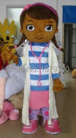 Doktor McStuffins maskot kostýmu McStuffins kostým pro dospělé maskot Doc McStuffins kostým