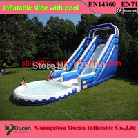 Free shipping&pump ! 10x5m Outdoor Commercial Inflatable Water Slide with Pool,Used Playground Water Slide For Kids and Adult