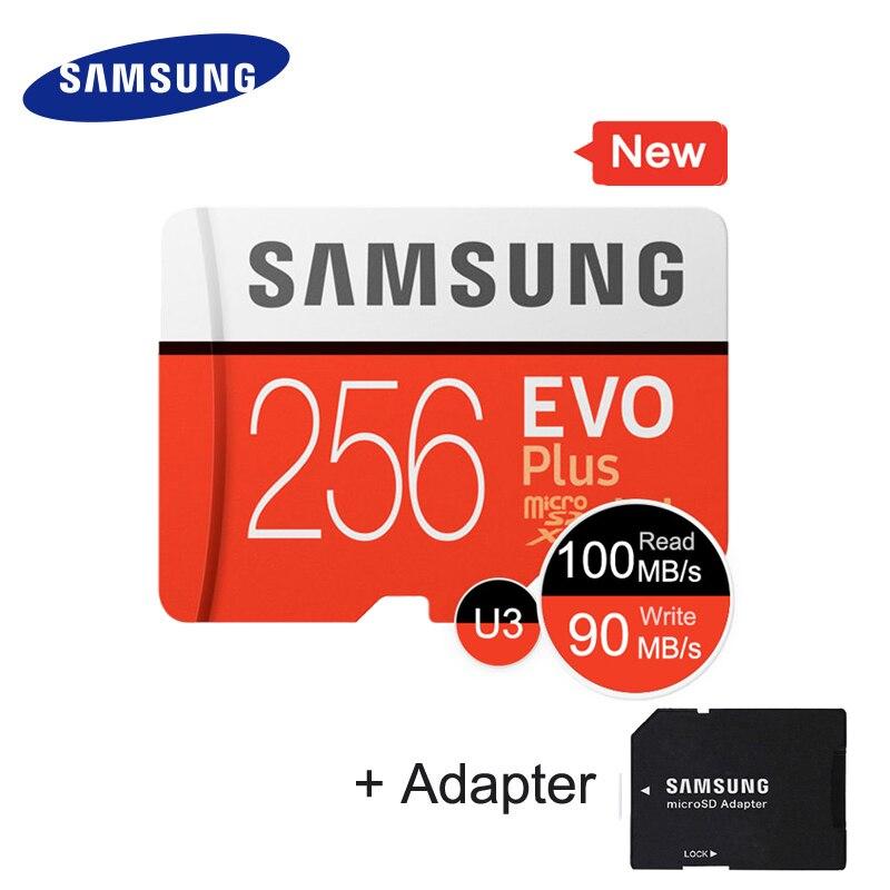 SAMSUNG EVO Plus Class10 carte mémoire micro sd 256GB 95 mo/s étanche TF Memoria carte Sim Trans Mikro carte pour téléphone intelligent 256 go - 3
