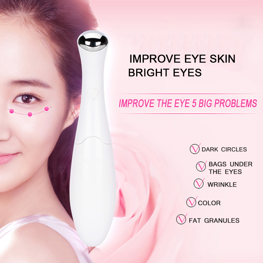 Electric Eye massager instrument beauty device eye vibration massage pen eliminate bags under the eyes dark circles wrinkles 2017 hot colorful eye beauty instrument remove the dark circles to wrinkle bags face electric massage device to remove wrinkles