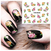 DIY nail sticker Applique Adhesive Rose Flower Rattan Nail Sticker Lace Design Nail Paste Transfer Sticker 2018 Women(China)