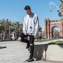 QXCWear men's jeans ripped jeans for men slim famous brand designer biker hip hop swag black jeans