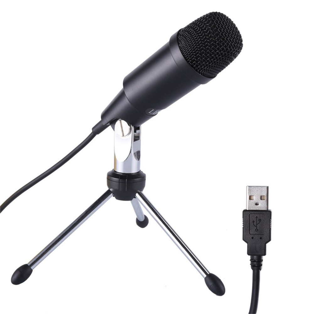 leshp professional microphone wired recording metal audio usb condenser microphones with tripod. Black Bedroom Furniture Sets. Home Design Ideas