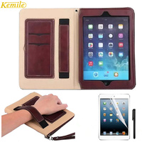 For Ipad Pro 9 7 Retro Briefcase Hand Belt Holder Leather Case For Apple Ipad Pro