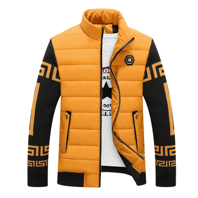 2016 Men Cotton Winter Jacket Men Blend Coats Zipper Mens Jacket Casual Thick Outwear for Men Clothing Male Asia Size 4XL