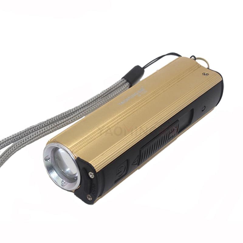 Led flashlight power bank 2000lm 3 modes rechargeable cree led lamp torch portable lantern linternas by 18650 USB flashlight led