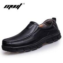 Más el tamaño 11 zapatos de los hombres zapatos de cuero Genuinos planos de los hombres de Marca clásicas de los hombres zapatos casuales de cuero de oxfords Comfort suave hombres