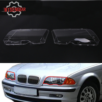 2x Transparent Housing Headlights Lense Shell Cover Lamp Assembly For BMW E46 3 Series 318 320