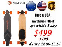 Hot New Arrival Maxfind Four Wheels Electric skateboard with Samsang Battery wireless Remote long board for kids Christmas gift