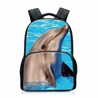 Cute Dolphins School Bags For Girls Elementary Students Backpacks Aniaml Design For Teen Boys Tiger Back